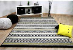 Designer Teppich Sevilla Modern Schwarz Gelb Stripes Pergamon Schwarz Gelb