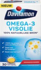 Davitamon Omega 3 Visolie - Hooggedoseerde omega 3 visolie - Voedingssupplement - 30 visolie capsules