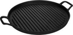 Gusta® Grillplaat Gietijzer 30cm Zwart