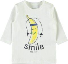 Witte Name it Jongens T-shirt - Snow White - Maat 62