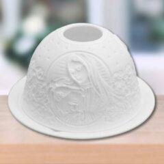 Witte Sweet Lake Company Porseleinen Tealightholder (theelichthouder) Maria en Paus
