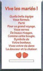 Rode Gifa Theelichthouder - bijzondere tekst - Vive les mariés