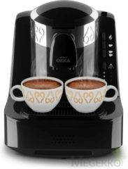 Arzum OKKA Turkish Coffee Machine| OK002BLACK | Black - Chrome |Turks Koffizetapparat- Zwart & Zilver - Full Automatic | 2 kopjes