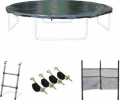 Alice's Garden Pakket met accessoires voor trampoline Ø400cm Mercure met een ladder, een beschermhoes, een opbergnet voor schoenen en een verankeringskit