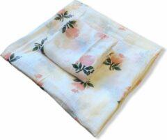 Roze Art Textiel - 2 Hydrofiele Doeken - XL & M - Roos