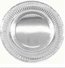 Stemen Kartonnen Bordjes zilver 18 cm 20 st - Wegwerp borden - Feest/verjaardag/BBQ borden / Gebak bordjes maat