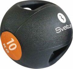 Sveltus medicine ball dubbele grip 10 kg zwart