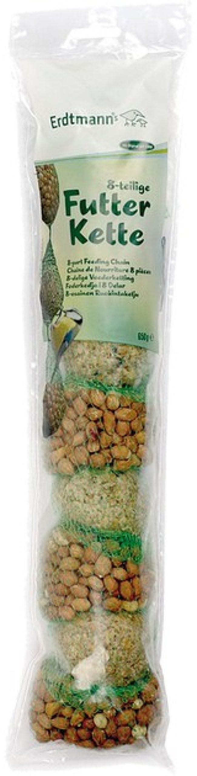 Afbeelding van Mixketting met 4 mezenballen en 4 pindanetten in een zak - Winter vogelvoer/dierenvoer