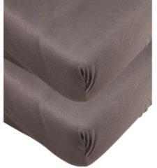AllSeasons Spannbettlaken anthrazit, 2x 100x200cm