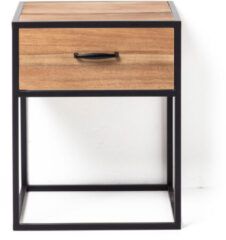Bruine Xenos Nachtkastje Charlie met lade - 40x40x50 cm