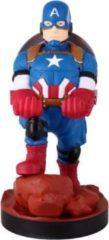 Blauwe Cable Guy - Captain America telefoonhouder - game controller stand met usb oplaadkabel 8 inch