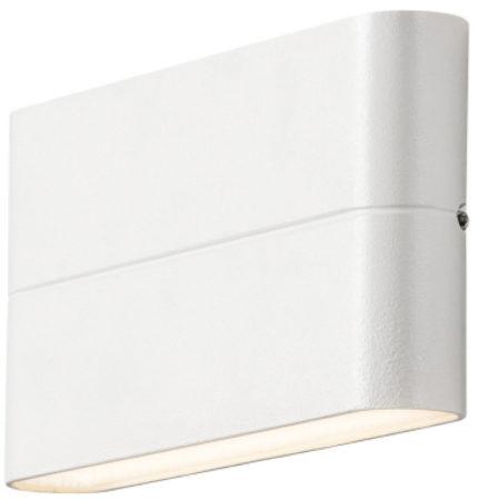 Afbeelding van Konstsmide 7973 - Wandlamp - Chieri PowerLED 230V flush twinlight - 17x9cm - 2x 6W - warmwit 3000K - matwit