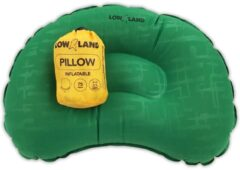 Groene LOWLAND OUTDOOR® Pillow inflatable - 45 cm x 30 cm x 10 cm
