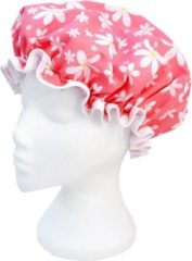 Roze Vagabond Traditionele Engelse Douchemuts - Pink Flowers