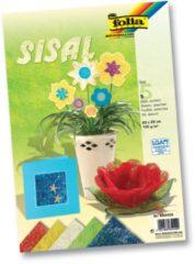 Rode Folia Sisalpapier Color (koningsblauw, lichtgroen, naturel, banaangeel, warmrood)