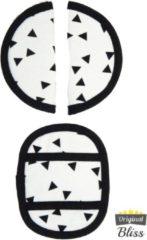 Witte Bliss Gordelbeschermer voor Maxi Cosi met 3 puntsgordel - Driehoek klein