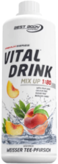 Best Body Nutrition Low Carb Vital Drink 1000ml White Tea Peach
