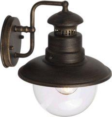 Brilliant Artu 96128/86 Buitenlamp (wand) Energielabel: Afhankelijk van de lamp Spaarlamp, LED E27 53 W Zwart, Goud