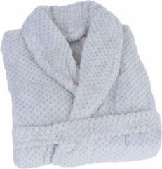 Clarysse Soft Coral Fleece Badjas Licht Grijs XL/XXL