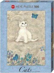 Heye Puzzle White Kitty, Cats