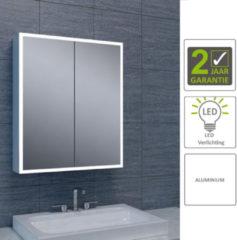 Boss & Wessing BWS LED Spiegelkast Aluminium Quatro Met Rand Verlichting 60x70x13 cm