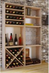 Wein-Regalserie Regal Weinregal Weinschrank Weinflaschen Schrank Holz Würfel Flaschen Aufbewahrung VCM Weino V: Sonoma-Eiche