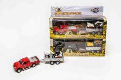 Kids Globe Farming Auto Diecast Pajero Pull Back Met Minigraver Assorti