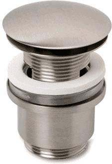Afbeelding van Roestvrijstalen Plieger Design afvoerplug clickwaste met overloop 5/4 RVS look
