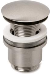 Roestvrijstalen Plieger Design afvoerplug clickwaste met overloop 5/4 RVS look