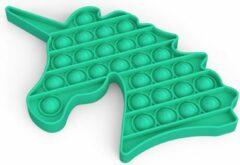 Colourfam® ColourFam fidget toys pop it | Groene Unicorn | Stress verlagend | Fidget popper | Fidget speelgoed | fidget toys pop it tiktok | fidget pad | Stress verlagend | Speelgoed voor Autisme Adhd / Angst Focus | | Pop it game