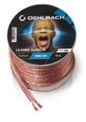 Oehlbach Luidsprekerkabel 2 x 1,5 mm², minihaspel 20 m Luidspreker kabel