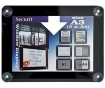 Securit vitrine posterframe A3, zwart