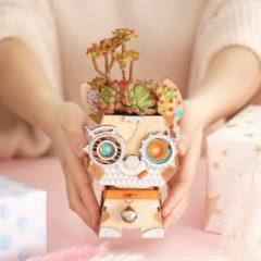 Robotime Puppy FT742- Houten Modelbouw - Bloempot - DIY