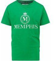 Vingino! Jongens Shirt Korte Mouw - Maat 116 - Groen - Katoen/elasthan