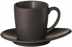 ASA Selection Cuba Marone - Espressokopje en Schotel - 0,07 l - Donkerbruin