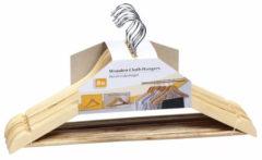 Bruine Relaxwonen Luxe kledinghanger hout 24 stuks 44 cm - kledinghangers
