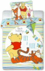 Rode Disney Ledikant baby peuter dekbedovertrek - Winnie the Pooh - Vlieger - 100% katoen
