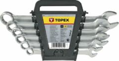 Zwarte Topex 35D397 Ring-Steeksleutelset 8-17mm 6 delig