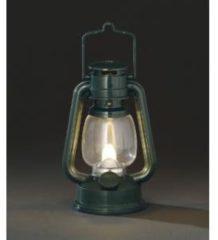 Konstsmide LED Stormlantaarn, kunststof, groen, 15.5cm, ook voor buitengebruik1 warm witte flakkerende LEDop batterij