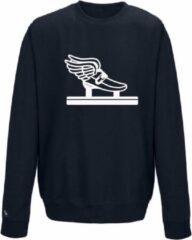 Blauwe Schaats sweater shorttrack Pattinaggio