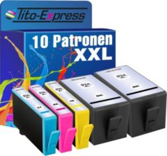 Tito-Express PlatinumSerie PlatinumSerie® 10 Cartridges XXL Black Cyan Magenta Yellow. Compatible voor HP 934 XL 935 XL Office Jet Pro/HP OfficeJet Pro 6230 / 6800 / 6830