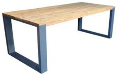 Wood4you - Eettafel New Orleans Roasted wood - Antraciet 220/90cm