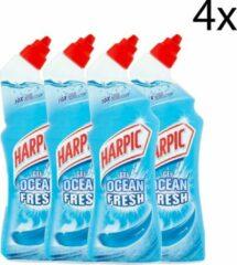 Harpic Toiletreiniger Gel Ocean Fresh - 4 x 750 ml