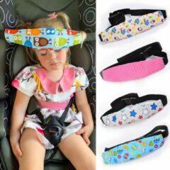 Merkloos / Sans marque Auto hoofdsteun voor kinderen / hoofdband / slaapkussen roze