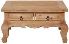 Beige MiaVILLA Couchtisch Merat, Asia-Style, Tannenholz