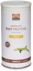 Mattisson Absolute rijst proteine vanille vegan 80% 500 Gram