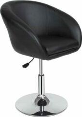 Zilveren TecTake barkruk - Bar fauteuil kruk barkruk lounge stoel barstoel - 401573