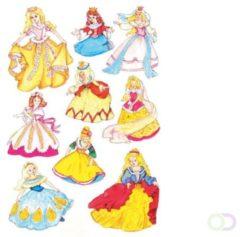 Witte HERMA Sticker Decoratie 'Prinsessen