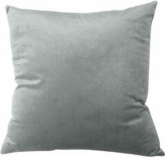TAQI Velvet Terracotta Kussenhoes -Sier Kussensloop - Fluweel - Super Zachte Korte Fleece - 45 x 45 cm - Zilver Grijs