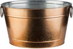 APS-Germany® Wijnkoeler met Lekbak en Handvaten - IJsemmer - Bierkoeler - Champagne koeler - Champagne Emmer - Metaal - Koper Look - 11 Liter